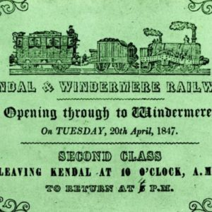 Kendal and Windermere Railway Enters Wordsworth's Lake District
