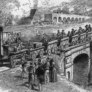 When the First Steam Locomotive Trains were run by the Stockton and Darlington Company