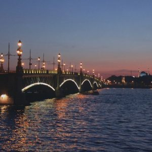 Night by the Neva, in St. Petersburg